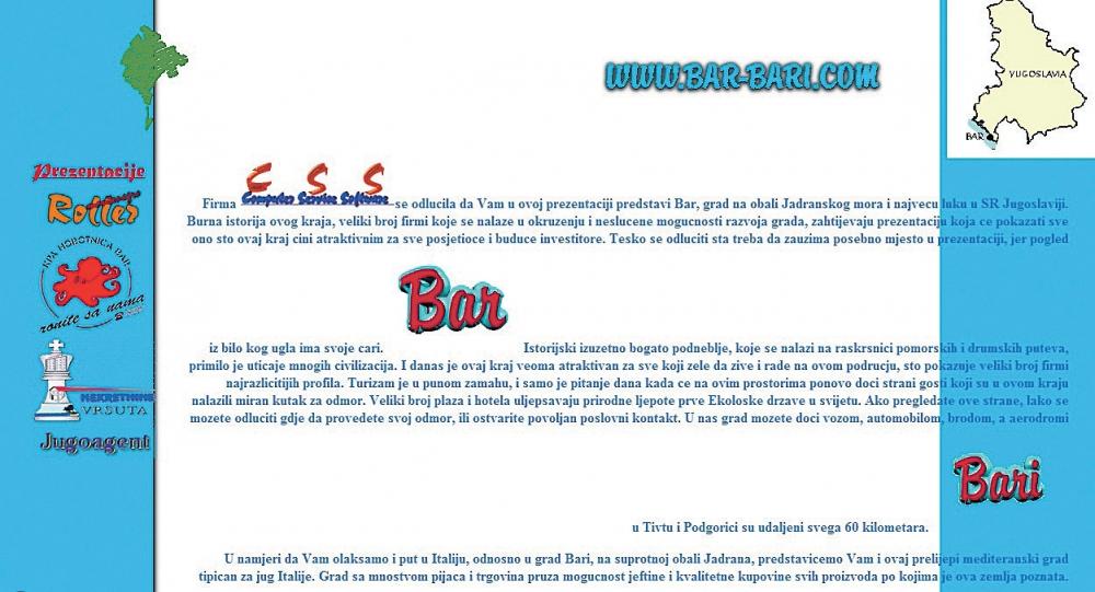Ovako je izgledao prvi crnogorski website