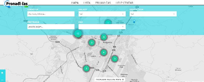 Mapa   Pronadi cas