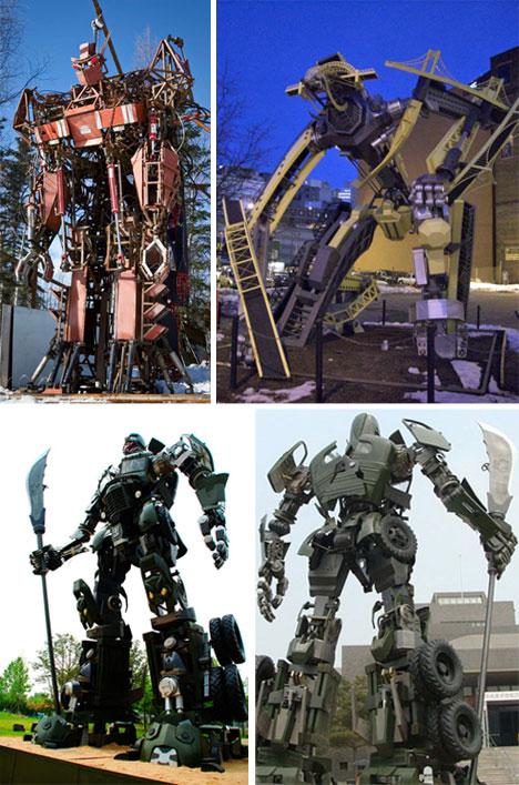 Statue robota inspirisane Transformersima