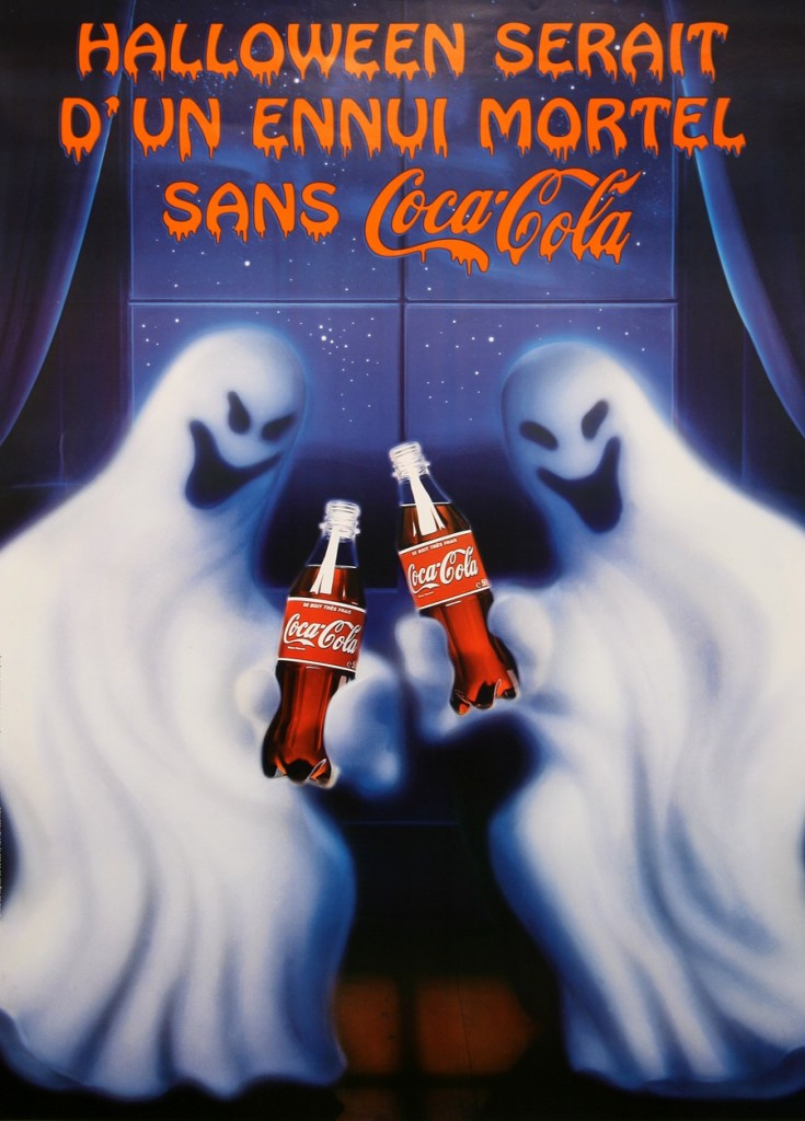 Coca-Cola France Halloween poster from 1998