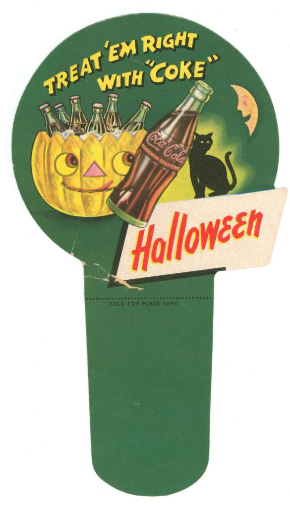 Coca-Cola Halloween carton insert from 1950