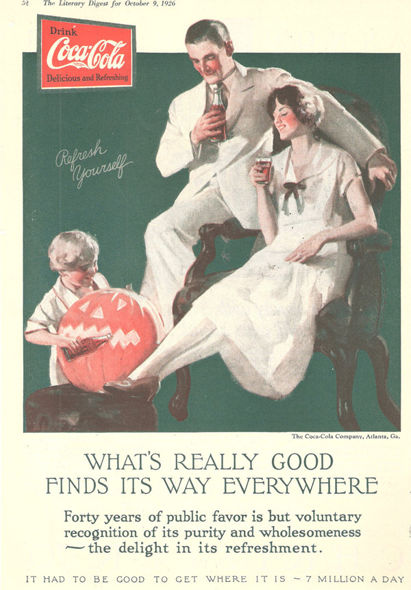 Coca-Cola Halloween poster from 1926