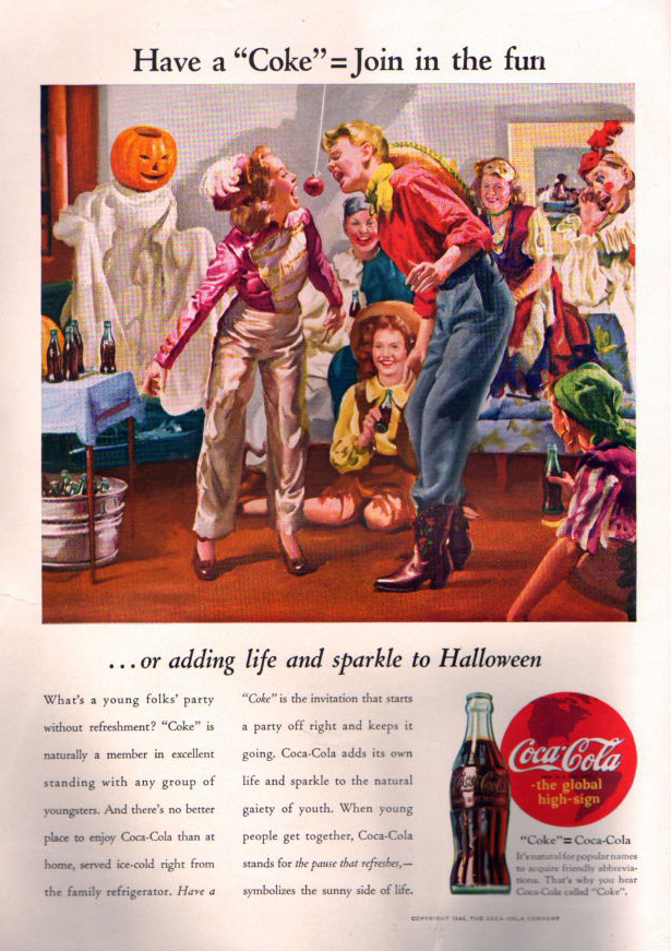 Coca-Cola Halloween poster from 1944