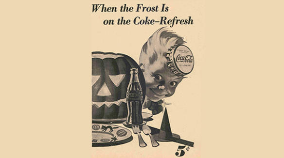 Coca-Cola Halloween poster from 1948