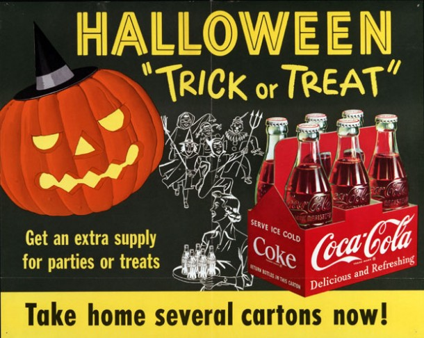 Coca-Cola Halloween poster from 1954