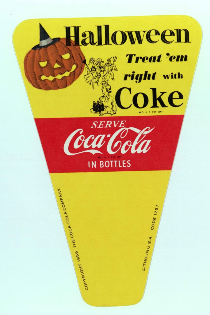 Coca-Cola Halloween poster from 1956 - 1