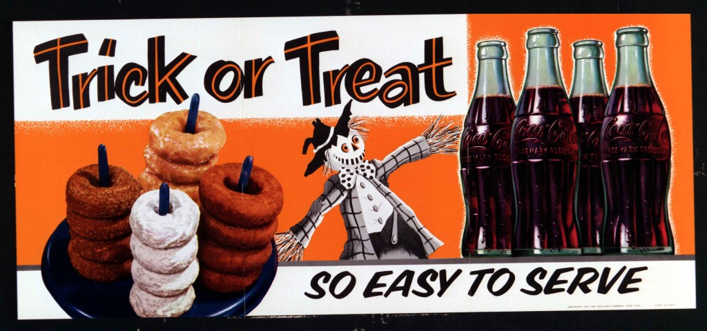 Coca-Cola Halloween poster from 1956