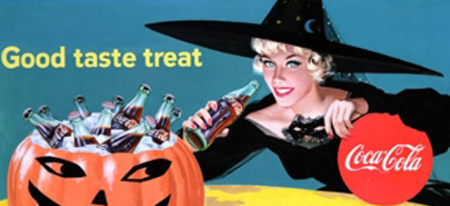 Coca-Cola Halloween poster from 1958