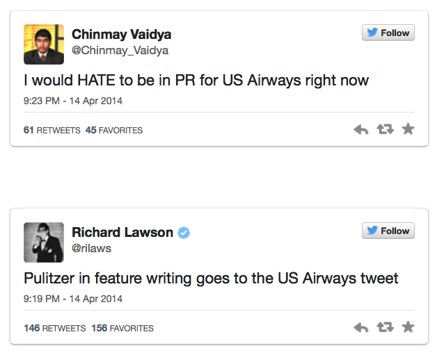 3. US Airways reactions