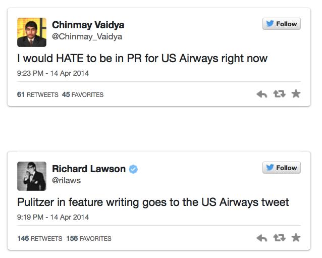 3. US Airways reactions
