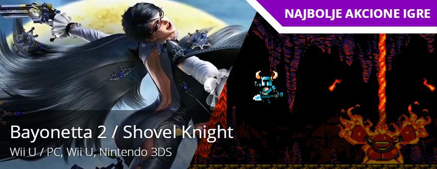 Najbolja akciona igra - Bayonetta 2 / Shovel Knight
