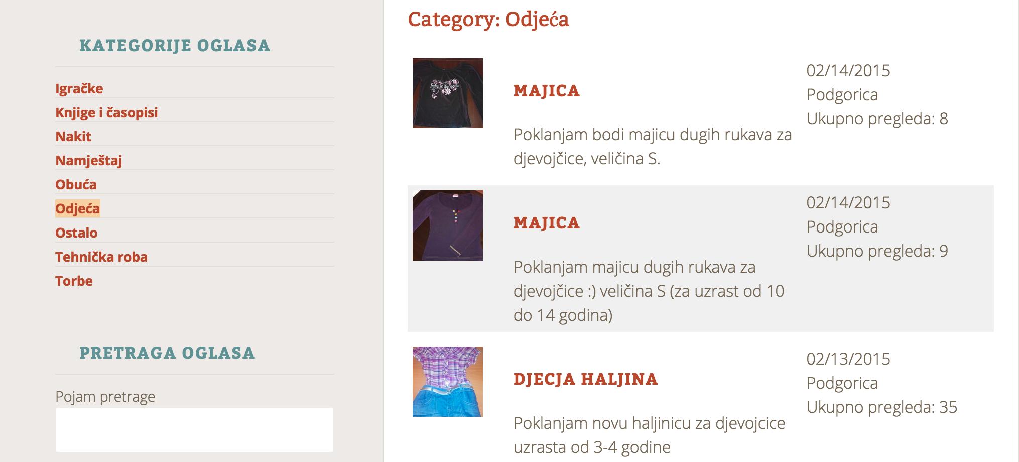 Kategorija - odjeća