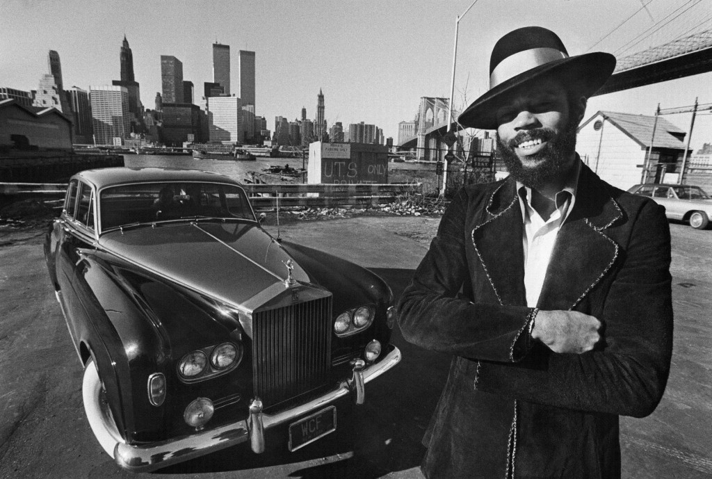 Walt Frazier with His Rolls Royce