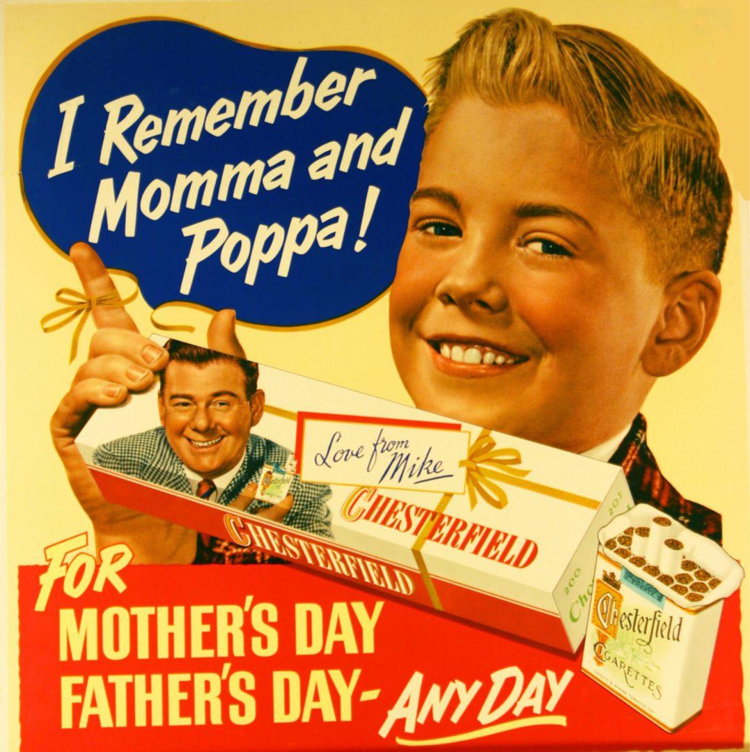 "Reklama za ""Chesterfield"" cigarete iz šezdesetih godina"