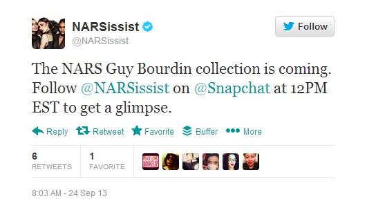 BWRITE-Snapchat-NARS-Twitter