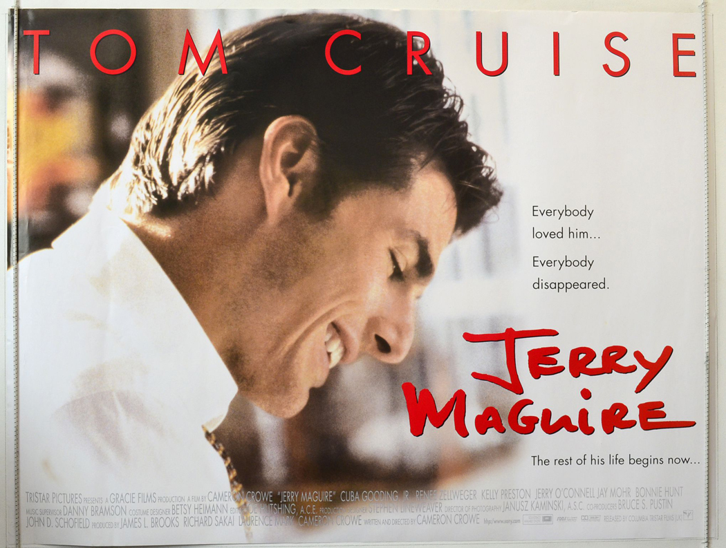 Jerry Maguire: Cinema Quad Movie Poster