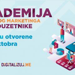 Prijavi se za besplatnu Digitalizuj.Me Akademiju digitalnog marketinga za preduzetnike