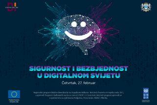 """Prijavi se na besplatnu radionicu """"Sigurnost i bezbjednost u digitalnom svijetu"""""""