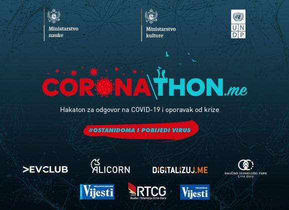 CORONATHON.me: Onlajn hakaton za odgovor na COVID-19 i oporavak od krize