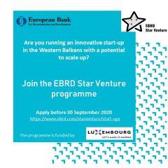 Prijavi se za EBRD Star Venture program za startapove