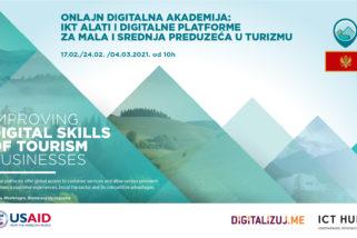 Onlajn Digitalna akademija: IKT alati i digitalne platforme za mala i srednja preduzeća u turizmu